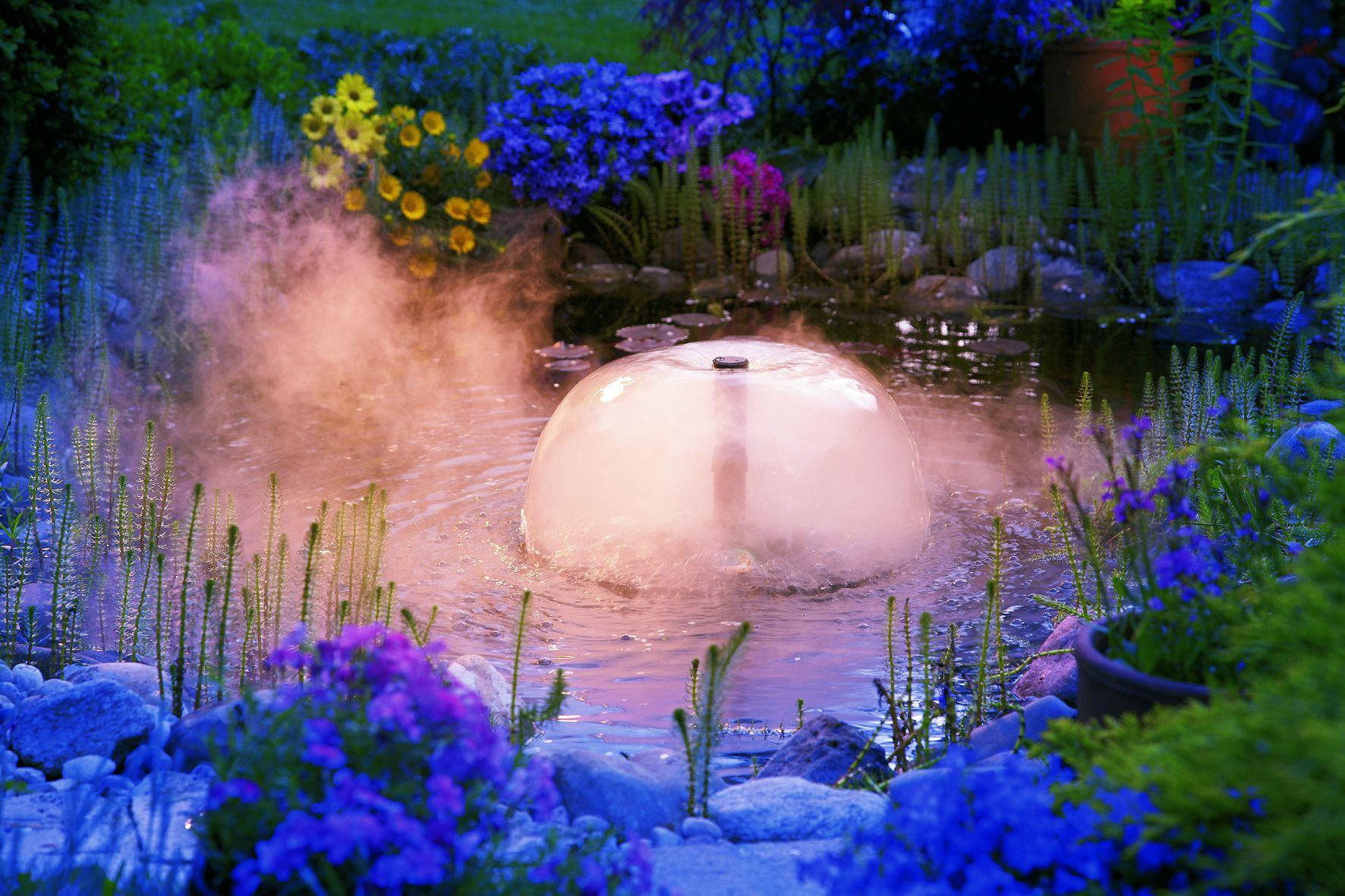 садовое освещение светильник в фонтане