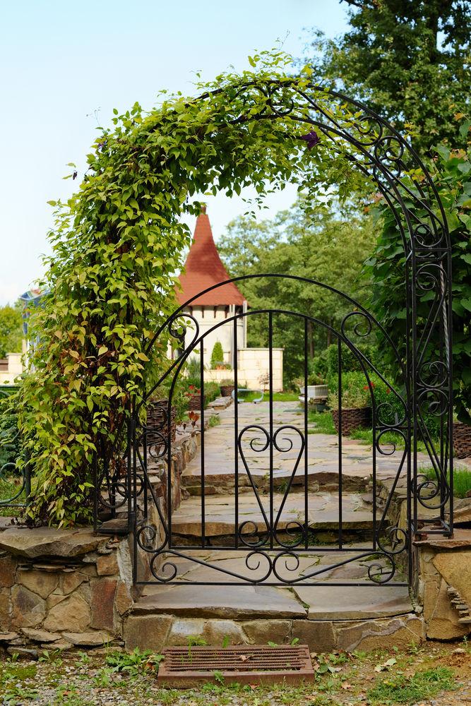 арка забор калитка