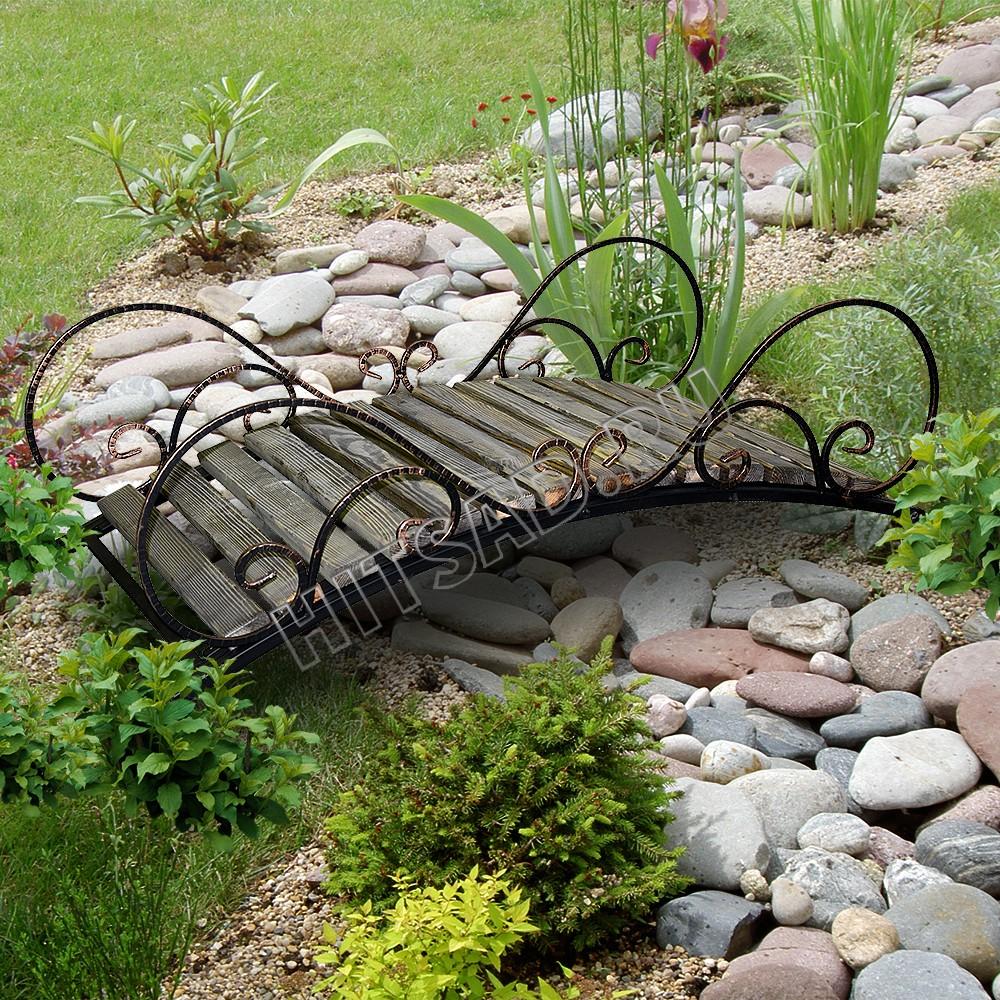 декоративный мостик для сада сухой ручей
