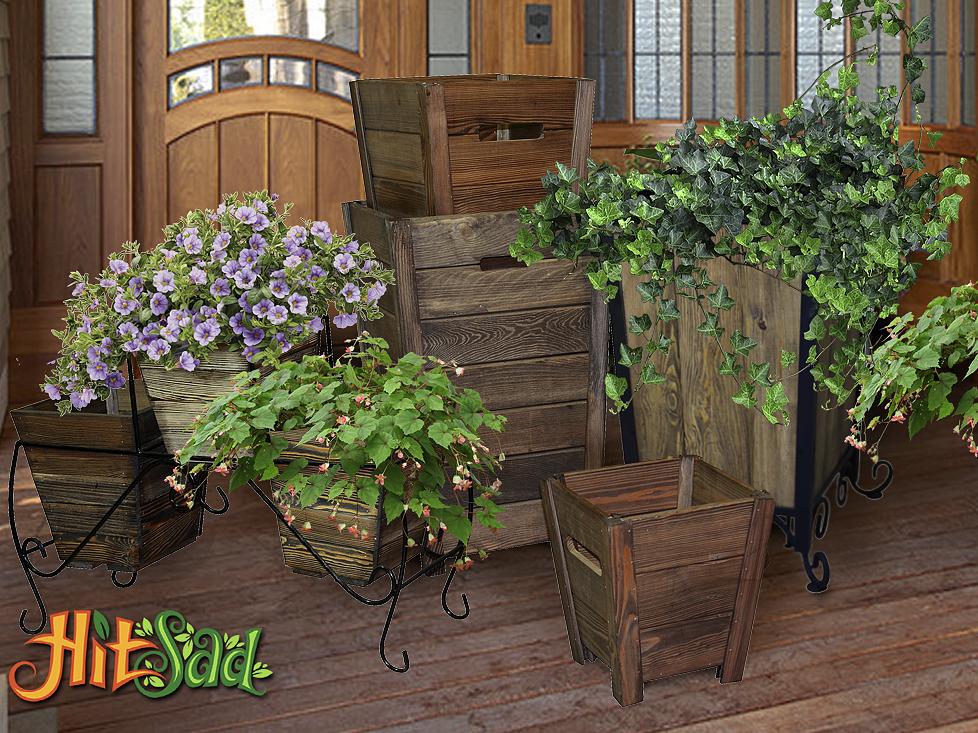 кадки для цветов деревянные цветочницы купить недорого