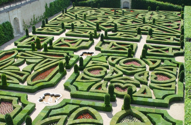 садовый лабиринт замок Вилландри