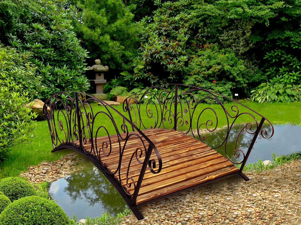 садовые мостики недорого декоративные кованые мостики