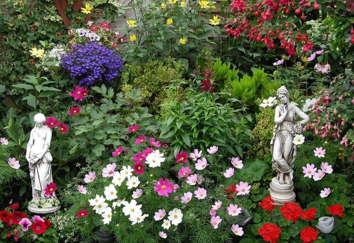 красивый сад Эдвины Фран скульптура