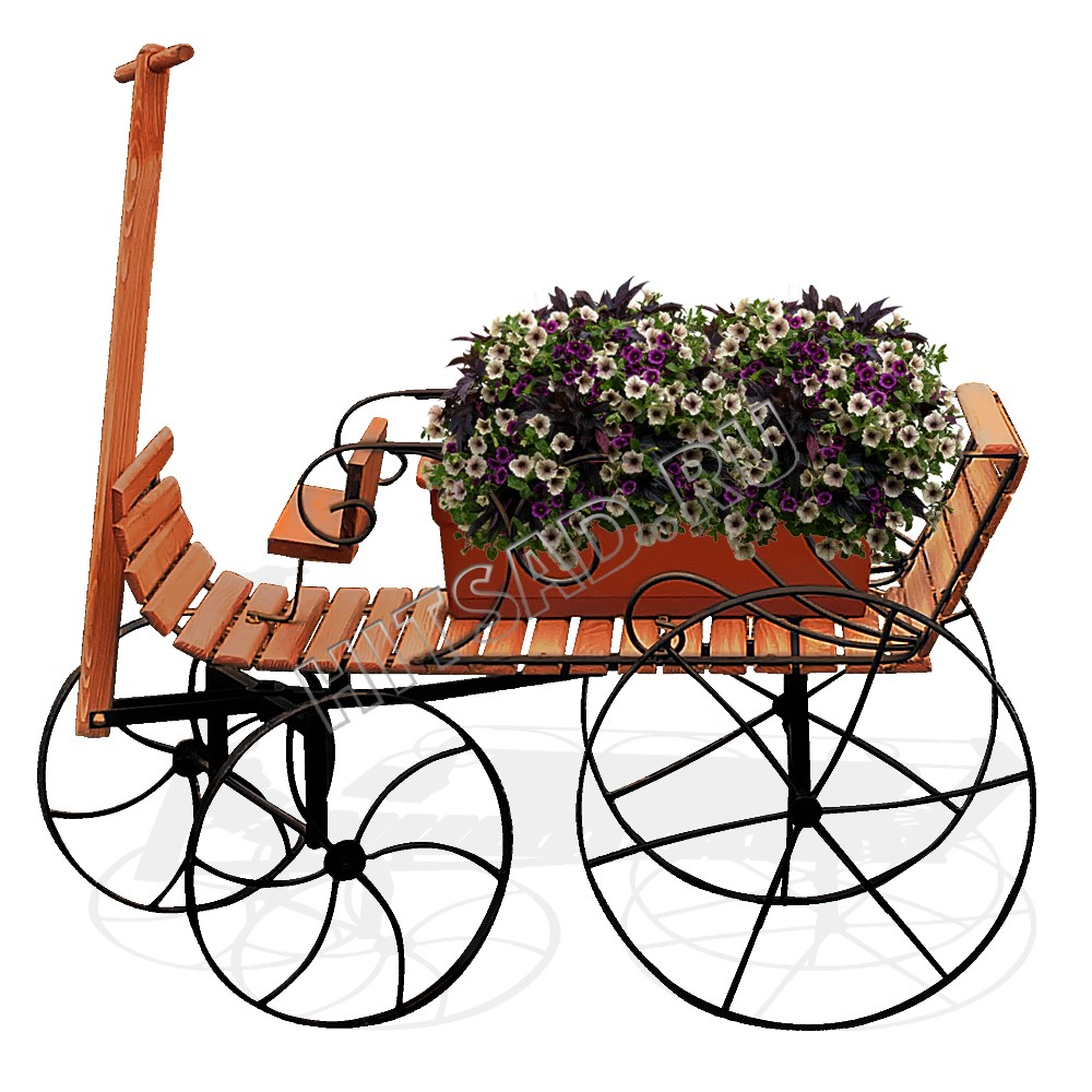 подставка под цветы садовая тележка