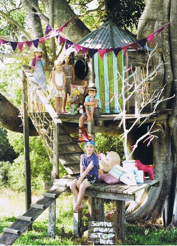 домик на дереве для ребенка своими руками
