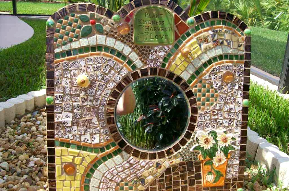 зеркальная мозаика в ландшафтном дизайне