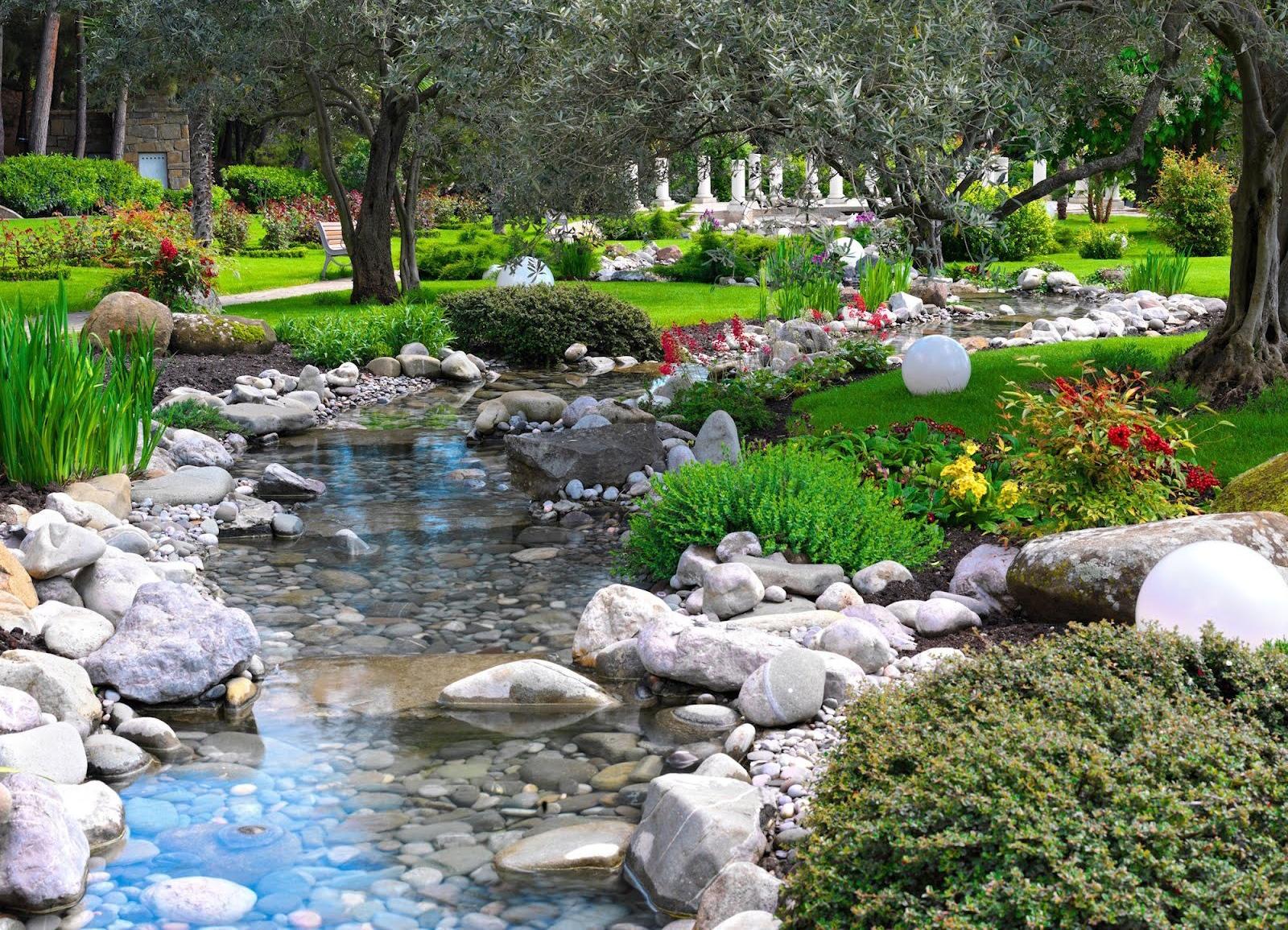 японский сад сад в японском стиле ручей в саду