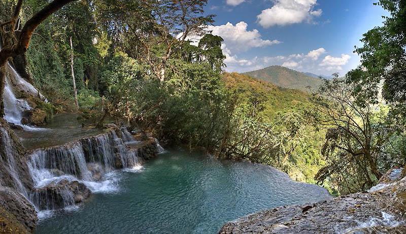 Водопад Тат Куанг Си, Луангпхабанг, Лаос