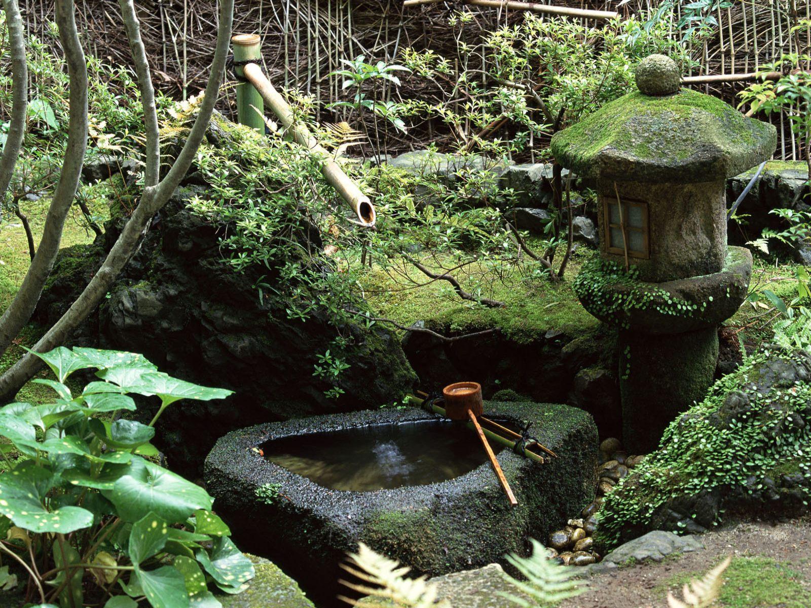 японский сад сад в японском стиле декоративный колодец тсукубай