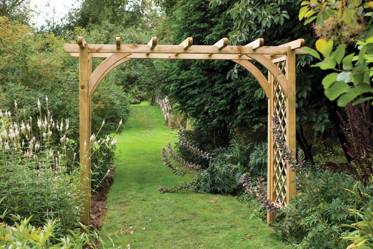 деревянная пергола для сада