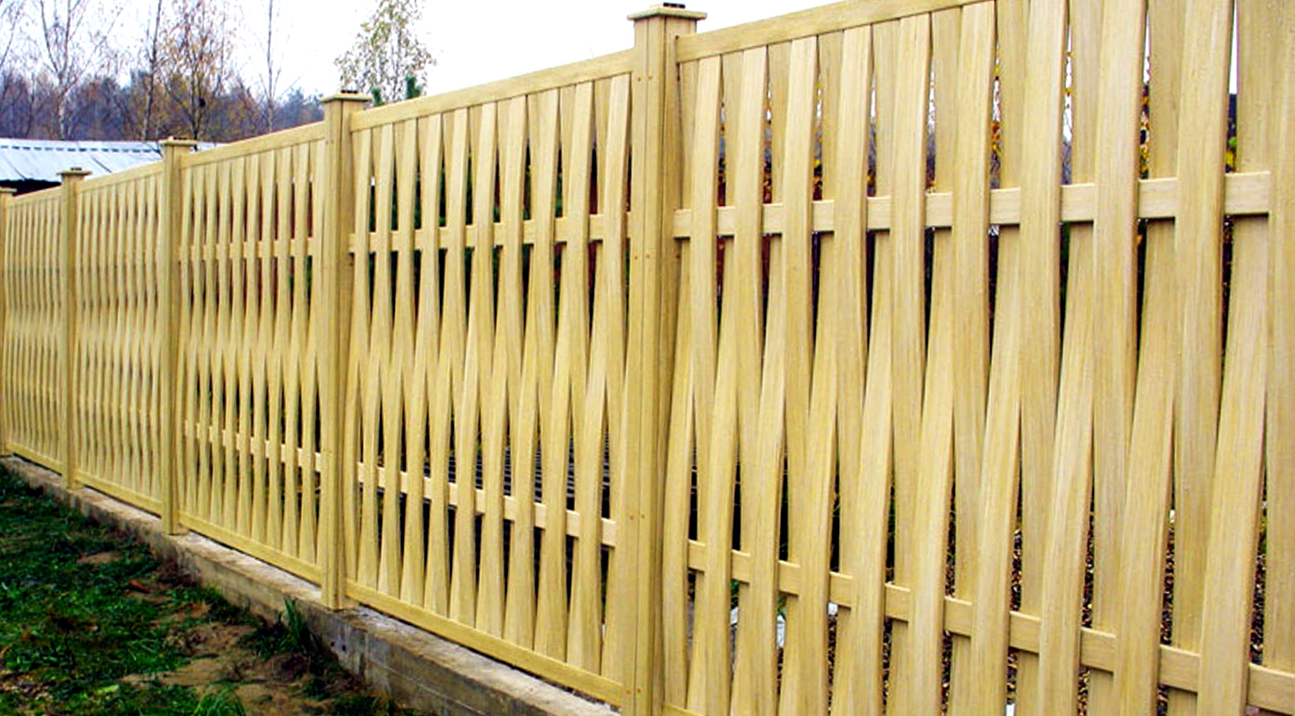 красивый глухой забор