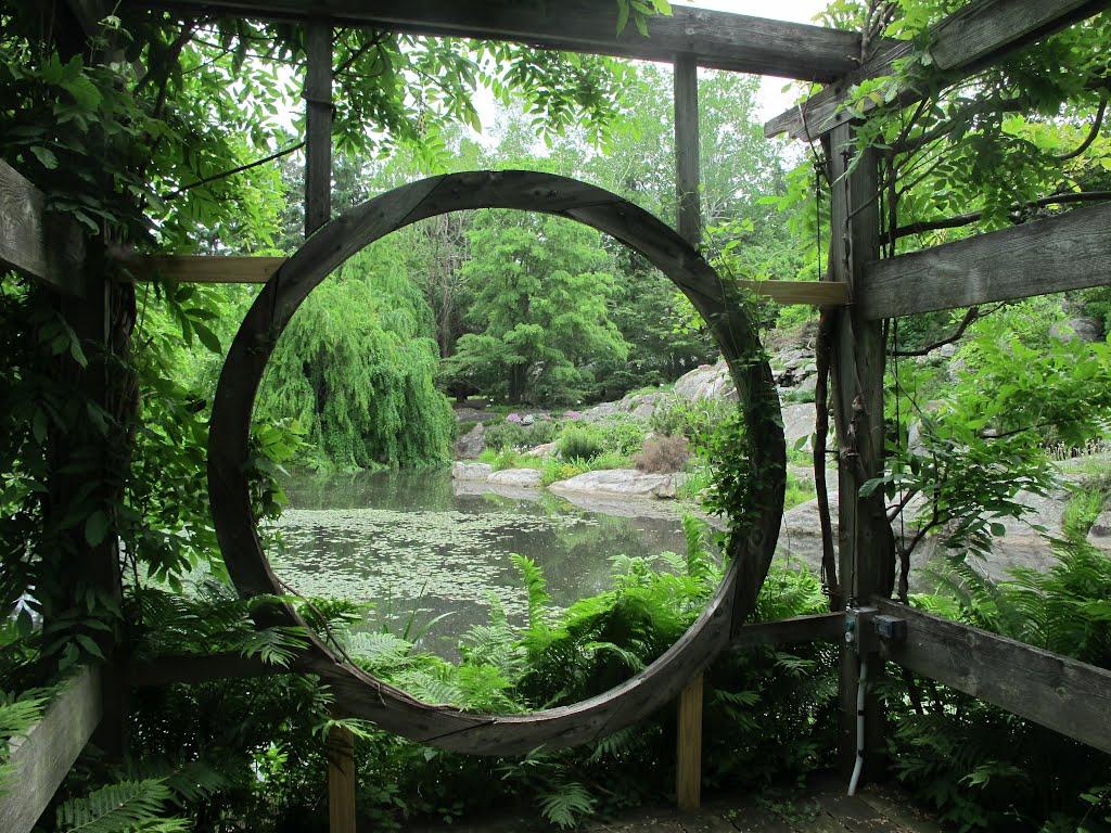 японский сад символизм японских садов круглые окна