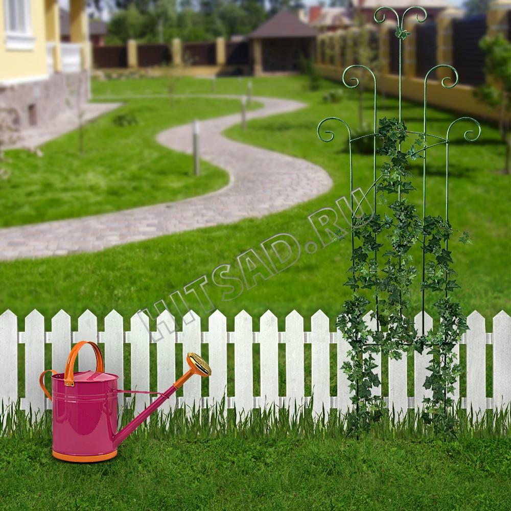 декоративный секционный забор для сада из дерева