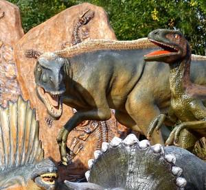 Парковые фигуры динозавров