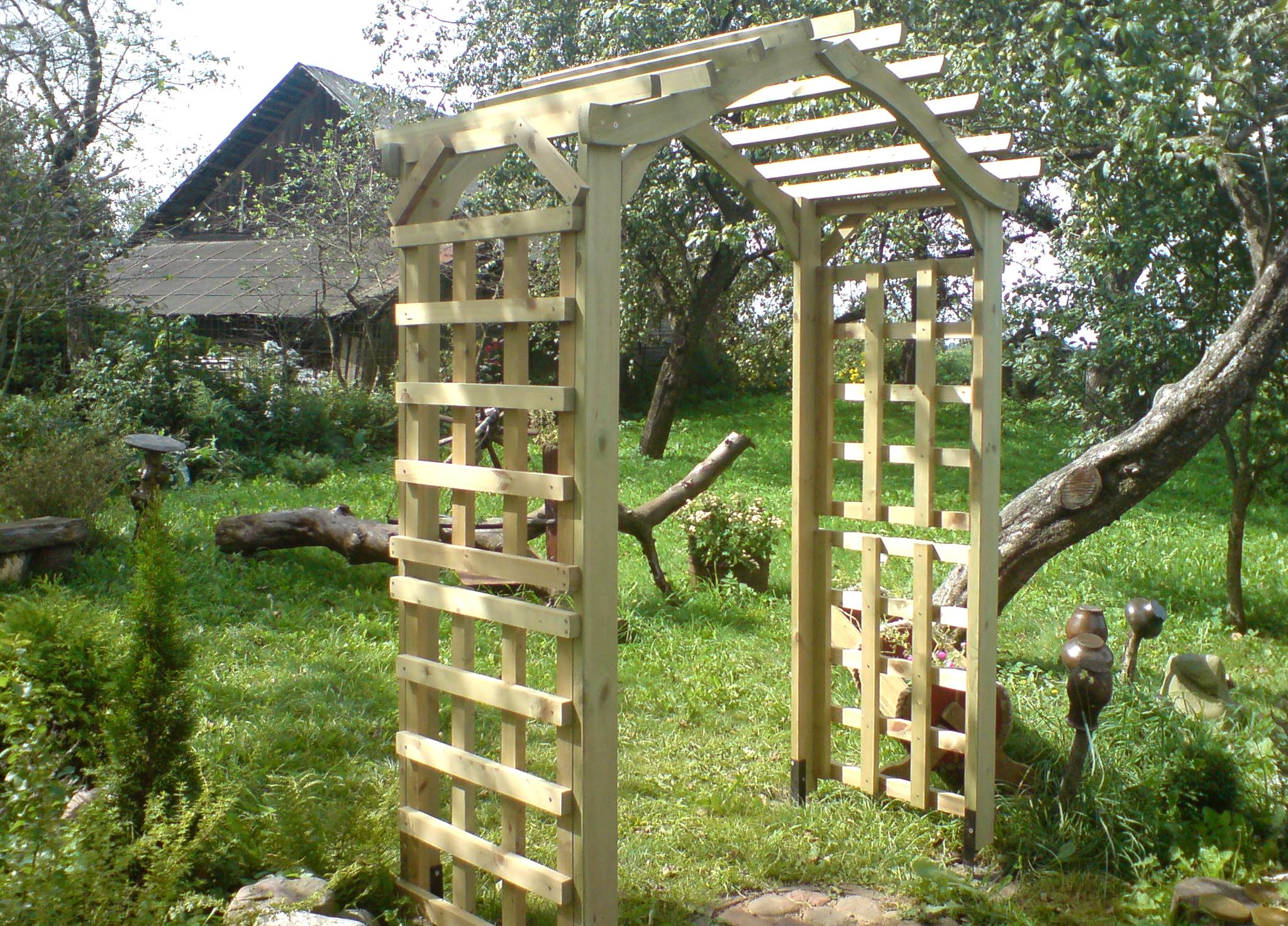 пергола вертикальное озеленение