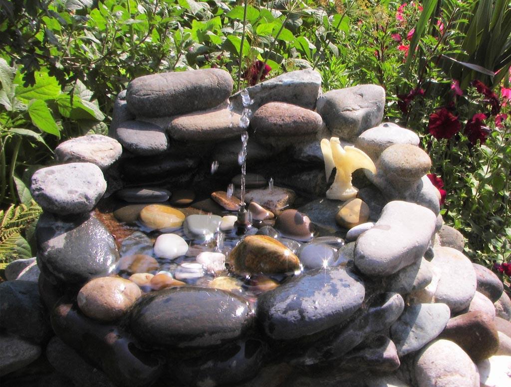 садовые фонтаны и водопады своими руками