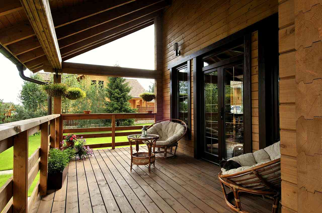 Веранды деревянных домов фото