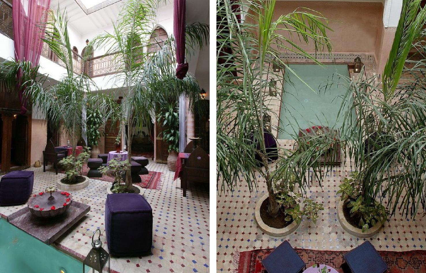внутренние дворики и патио в Марокко пример дизайна