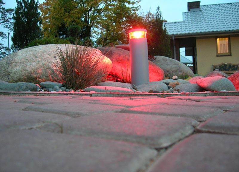 освещение садового участка садовые фонари на солнечных батареях
