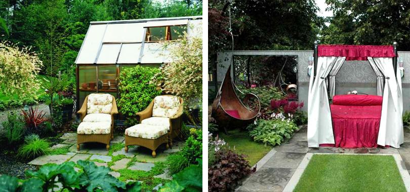 зона отдыха в саду своими руками