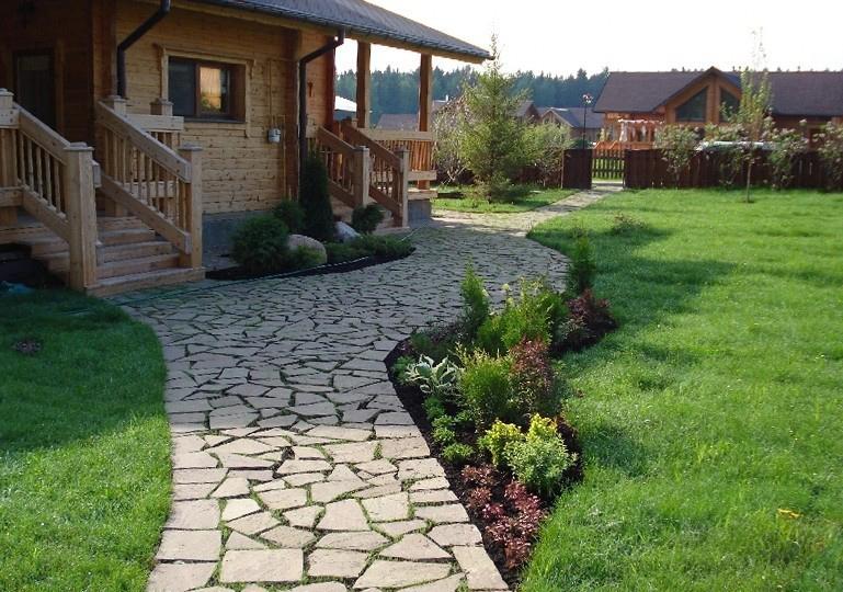 садовая дорожка на участке своими руками пример
