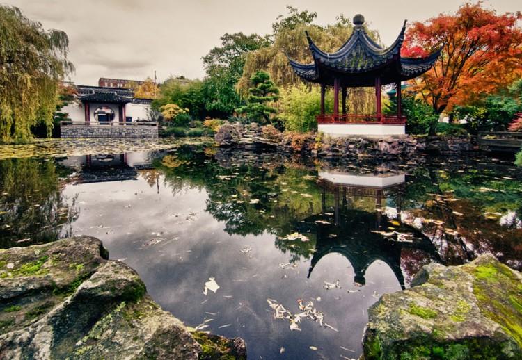 отличие японского сада от китайского