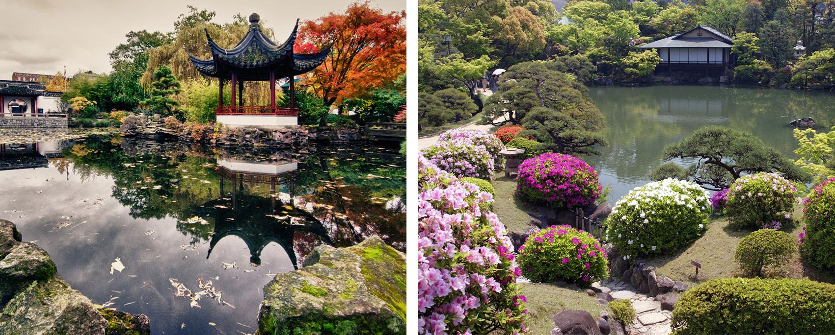 отличие китайского сада от японского