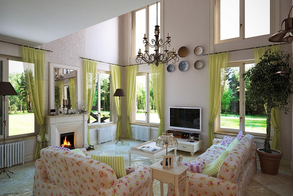 интерьер загородного дома в стиле прованс