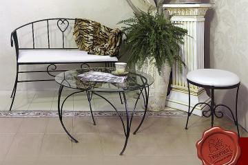 кованые диванчики для гостиной