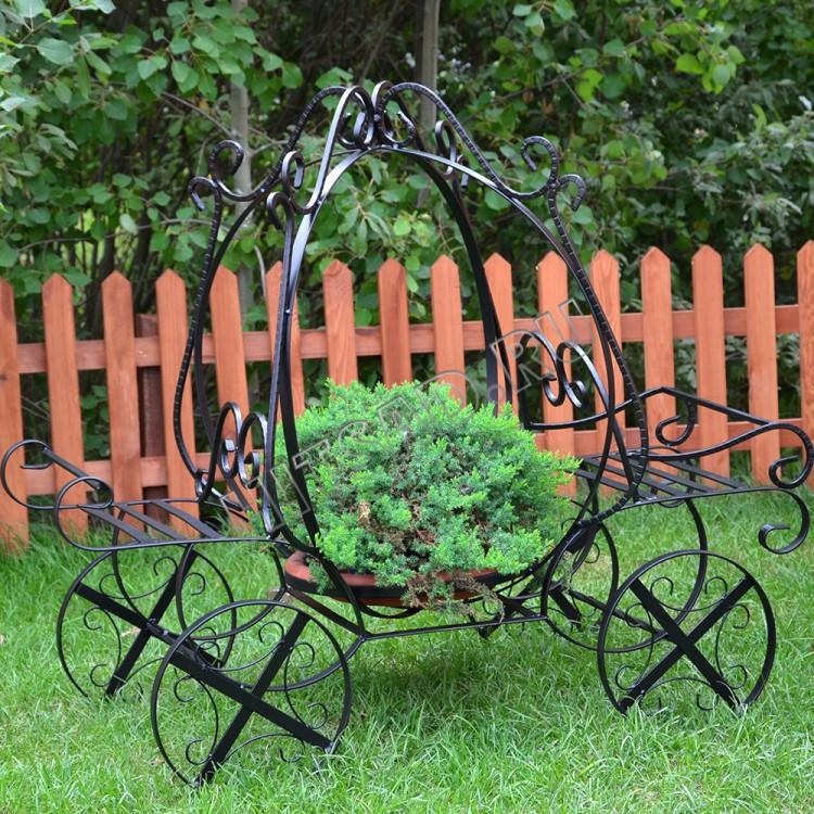 подставка под цветы садовая кованая