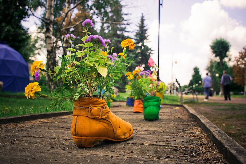 обувь с цветами