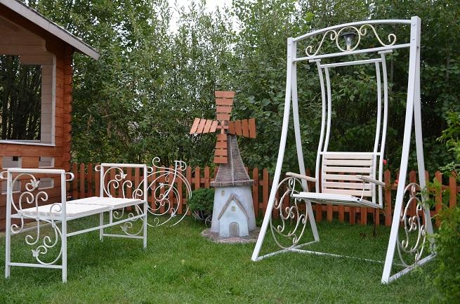 садовая мебель белая серия в стиле прованс