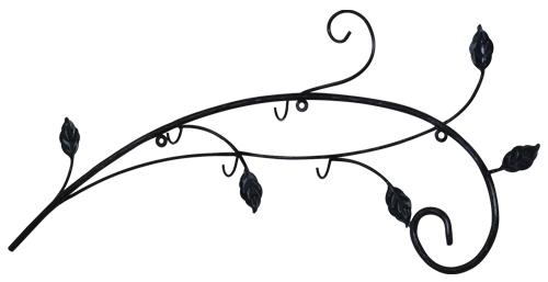 фото настенная кованая вешалка