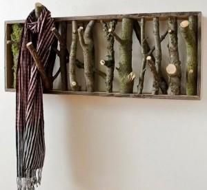 фото вешалка из сучков дерева