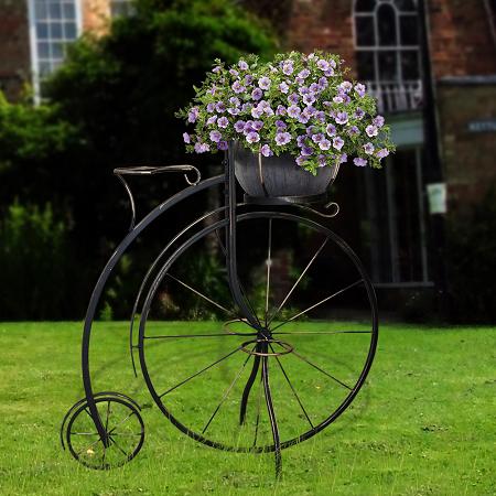 фото кованый велосипед для цветов