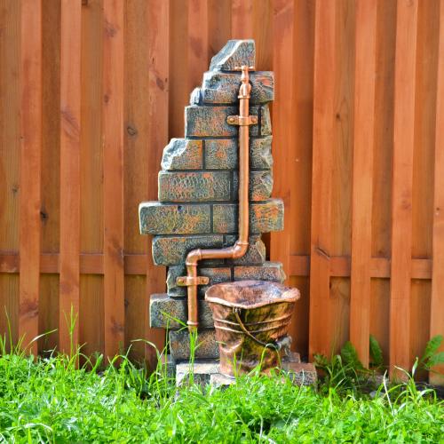 Умывальник выполнен из современного материала полистоуна